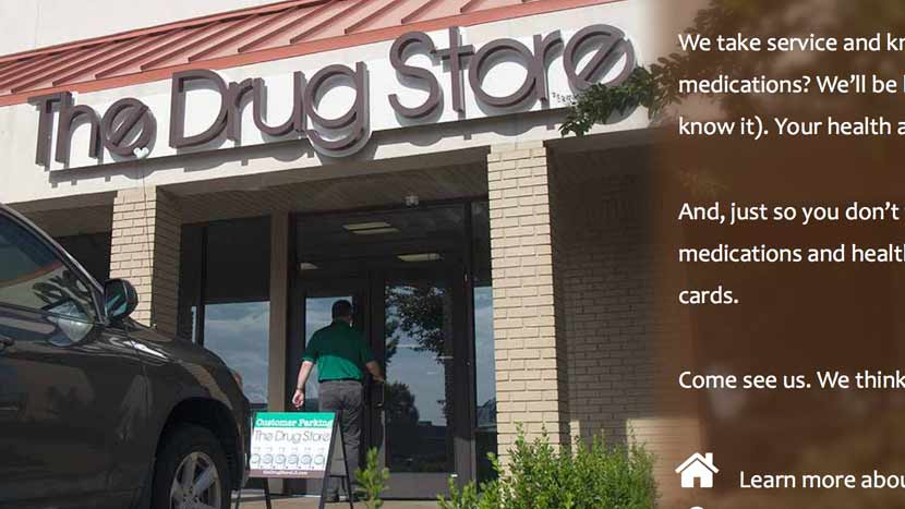 The Drug Store website