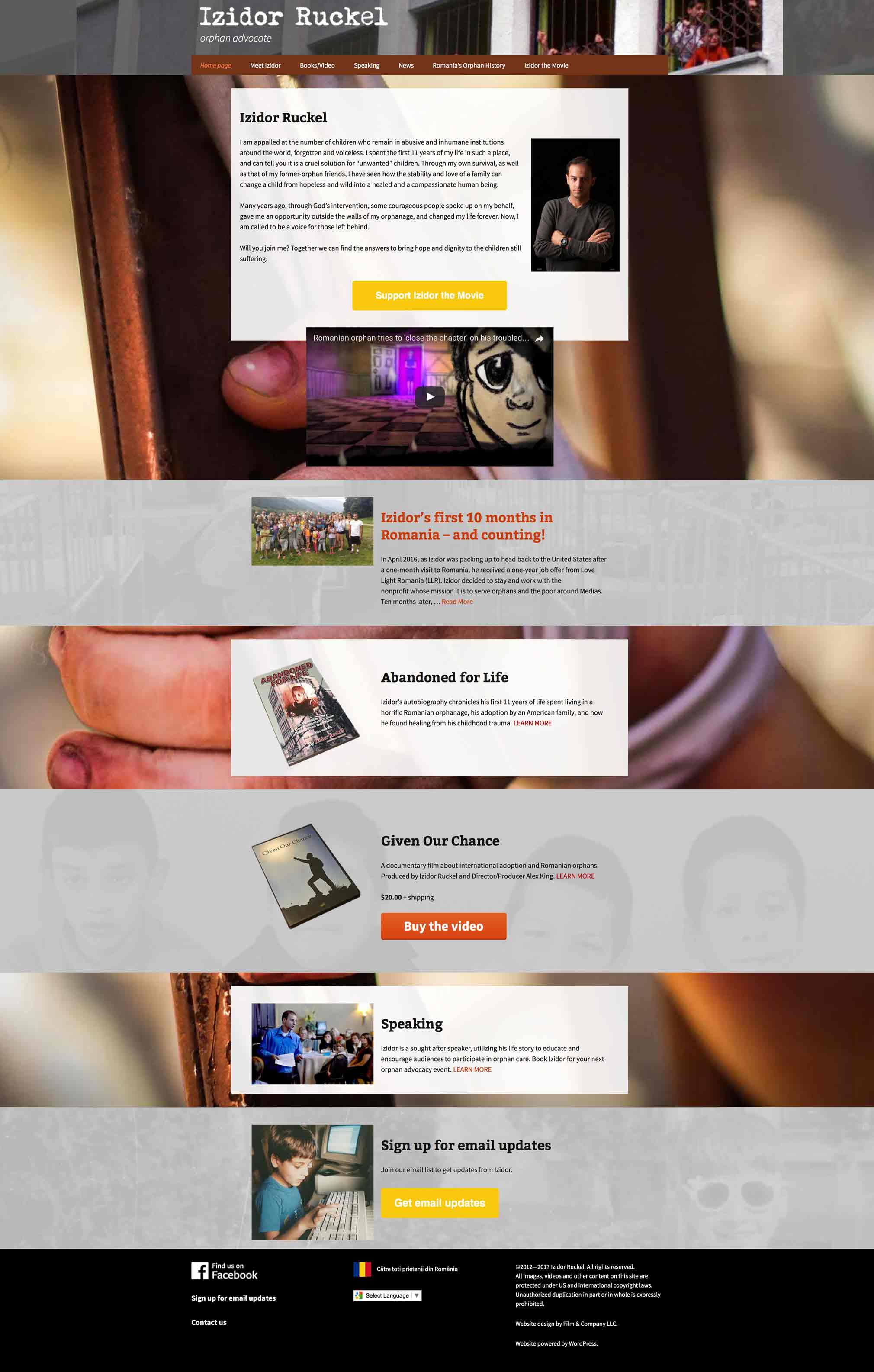 Izidor Ruckel home page for computer screen