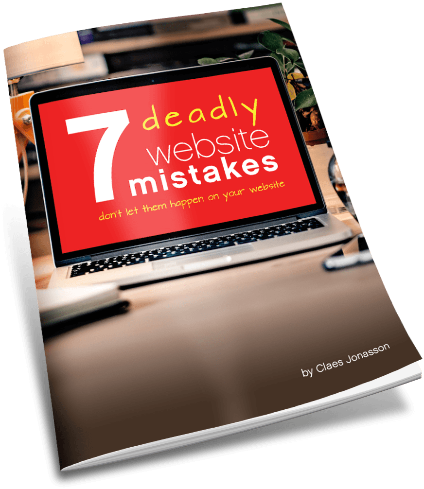 """7 deadly website mistakes"" by Claes Jonasson"