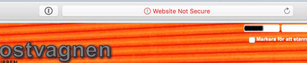 """Safari shows HTTP site as """"not secure"""""""