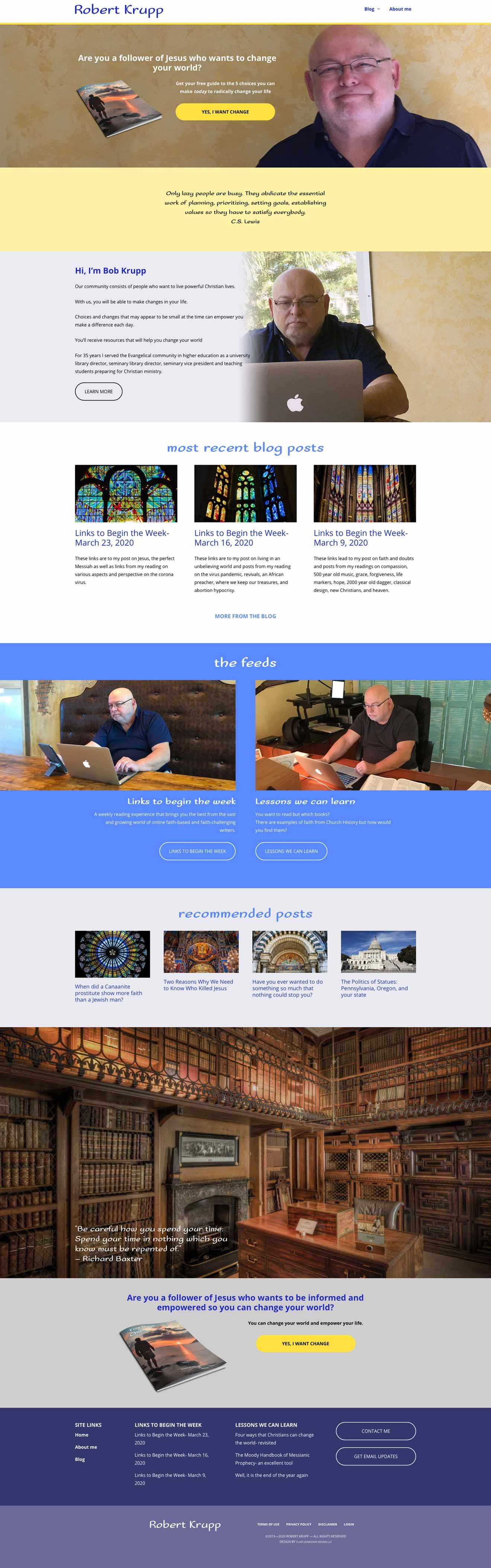RobertKrupp.com homepage