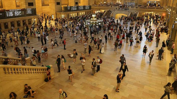 crowd of people at Grand Central Terminal, NYC